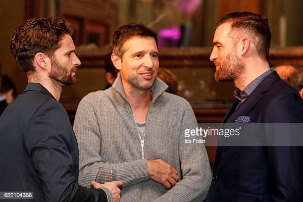 Former football player Arne Friedrich german moderator Andreas Tuerck and former football player Christoph Metzelder attend the La Martina x GQ...