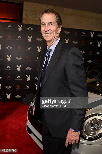 Former football player Cris Collinsworth arrives at the Playboy Party at the W Scottsdale During Super Bowl Weekend on January 30 2015 in Scottsdale...