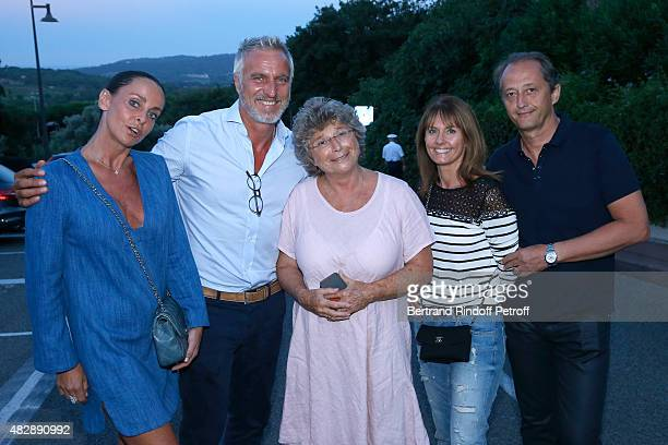 Former Football player David Ginola, his wife Coraline, President of Ramatuelle Festival Jacqueline Franjou, Director of Group Stores 'Unilever',...