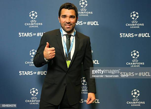 Former football player Deco attends the UEFA Champions League Final between Real Madrid and Club Atletico de Madrid at Stadio Giuseppe Meazza on May...