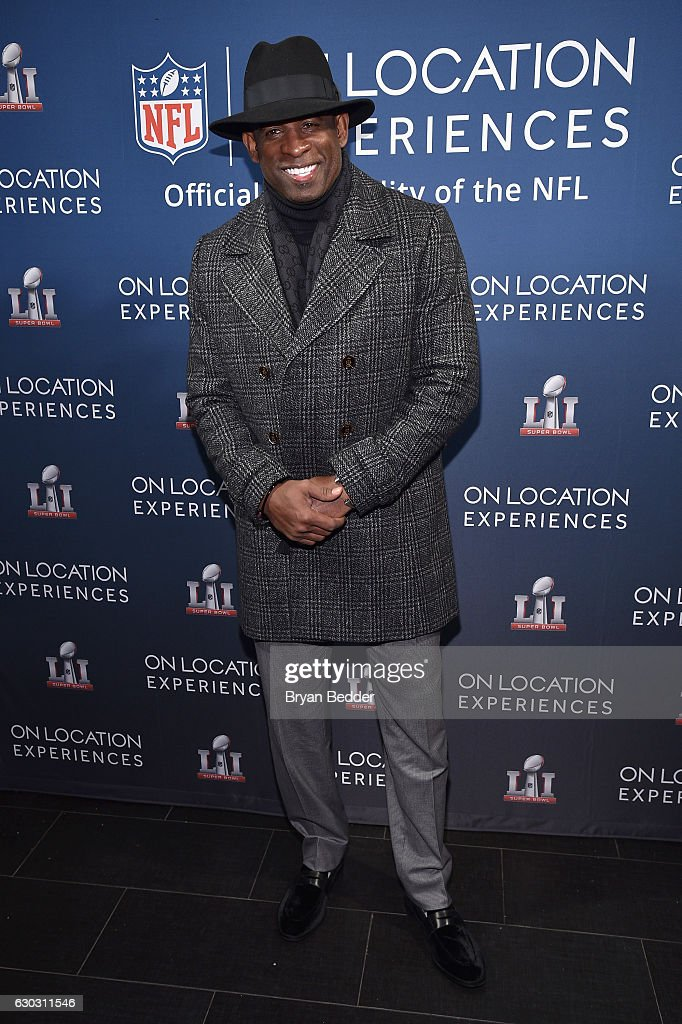 Former football player Deion Sanders attends On Location Experiences' 51 Days To Super Bowl LI Celebration at STK Rooftop on December 14, 2016 in New York City.