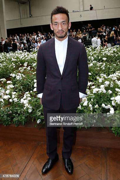 Former Football Player Hidetoshi Nakata attends the Dior Homme Menswear Spring/Summer 2016 show as part of Paris Fashion Week on June 27 2015 in...