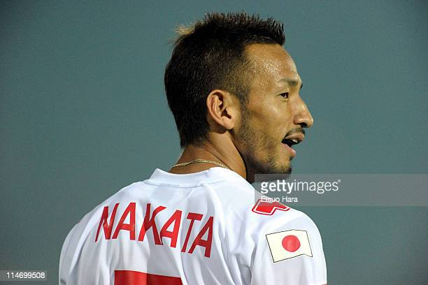 """Former football player Hidetoshi Nakata looks on during the charity match """"Perugia Per Sendai"""" at Renato Curi Stadium on May 23, 2011 in Perugia,..."""
