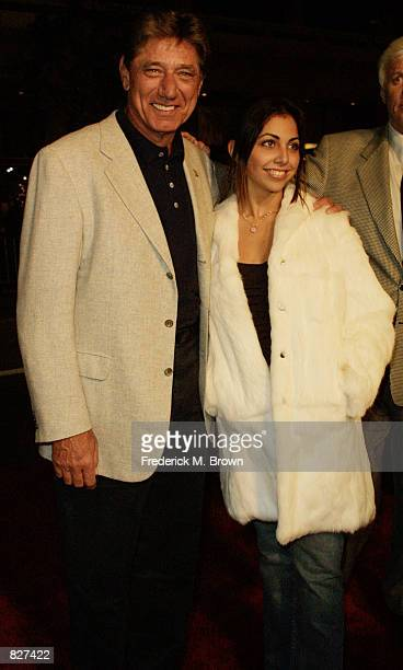 Former football player Joe Namath and his daughter Jessica Grace Namath attend the film premiere of Ali December 12 2001 in Los Angeles California