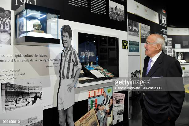 Former football player Luis del Sol is seen during his visit at Juventus Museum on May 16 2018 in Turin Italy