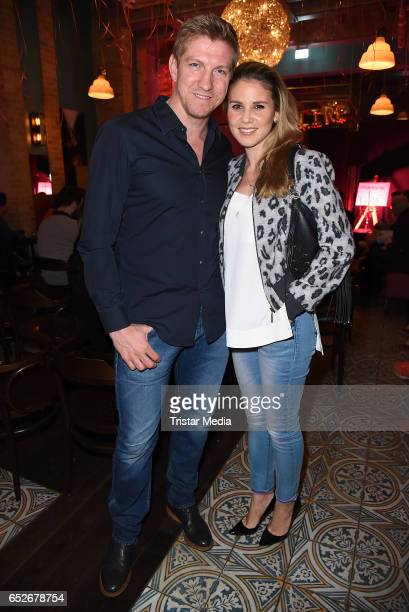 Former football player Marko Rehmer and his wife Daniela Rehmer attend the Private Soul Foods Presents Max Mutzke at Restaurant Centolire on March 12...