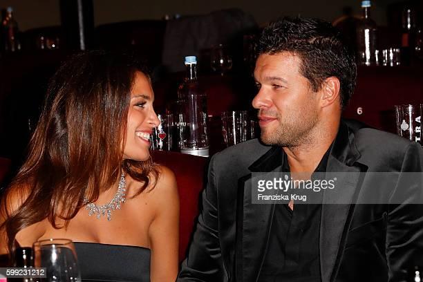 Former football player Michael Ballack and his girlfriend Natacha Tannous attend the 'Nacht der Legenden' at Schmidts Tivoli on September 04 2016 in...