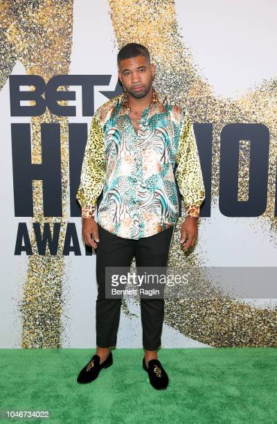 Former football player Mike Holston arrives at the BET Hip Hop Awards 2018 at Fillmore Miami Beach on October 6 2018 in Miami Beach Florida