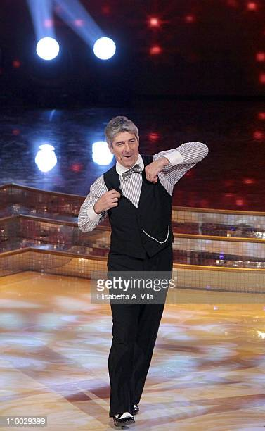 Former football player Paolo Rossi performs on the Italian TV show 'Ballando Con Le Stelle' at RAI Auditorium on March 12, 2011 in Rome, Italy.