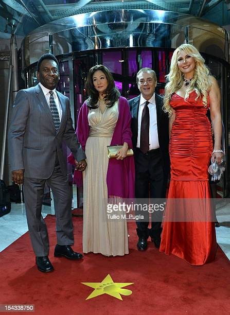 Former football player Pele with his wife Antonio Caliendo and Alessandra Canale attend the Golden Foot Award 2012 ceremony at MonteCarlo Sporting...