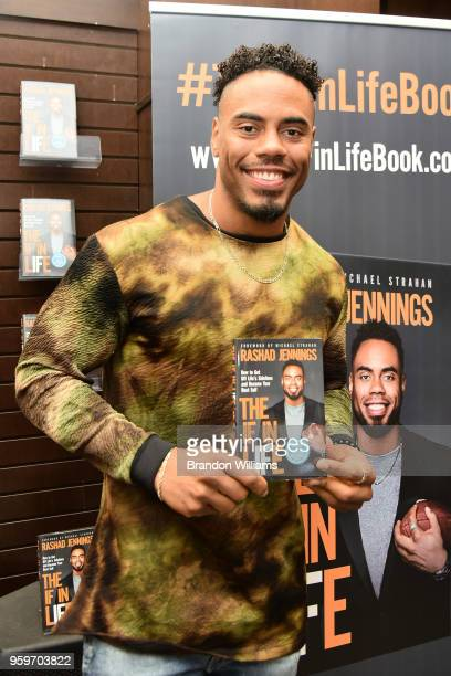 """Former football player / TV personality Rashad Jennings attends his book signing for """"The IF in LIFE"""" at Barnes & Noble at The Grove on May 17, 2018..."""