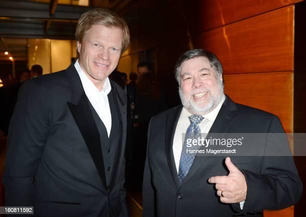 Former football star Oliver Kahn and Steve Wozniak cofounder Apple attend the Best Brands 2013 Gala at Bayerischer Hof on February 6 2013 in Munich...