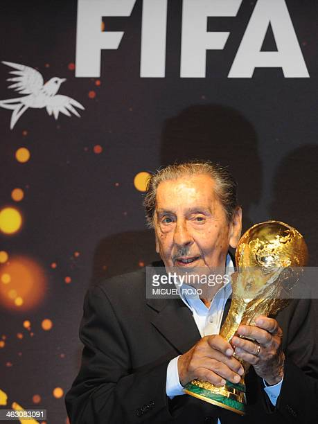 Former footballer Alcides Ghiggia the last survivor of Uruguay's shock win over Brazil in the deciding match of the 1950 World Cup at the Maracana...