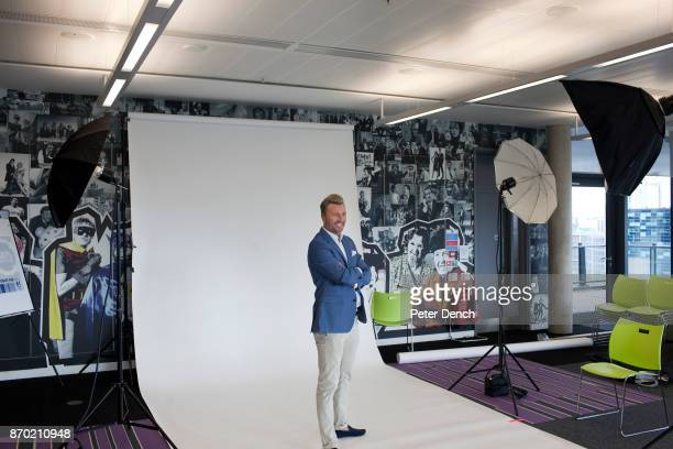 Former footballer and now presenter Robbie Savage has publicity photographs taken for the BBC Match of the Day is the BBC's main football television...