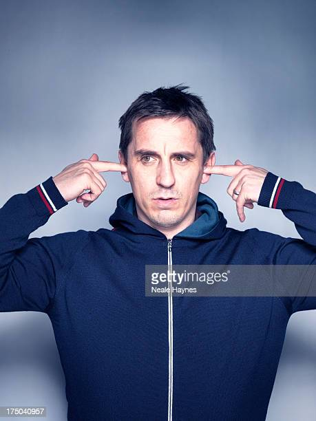 Former footballer and pundit Gary Neville is photographed for Shortlist on April 8 2013 in London England