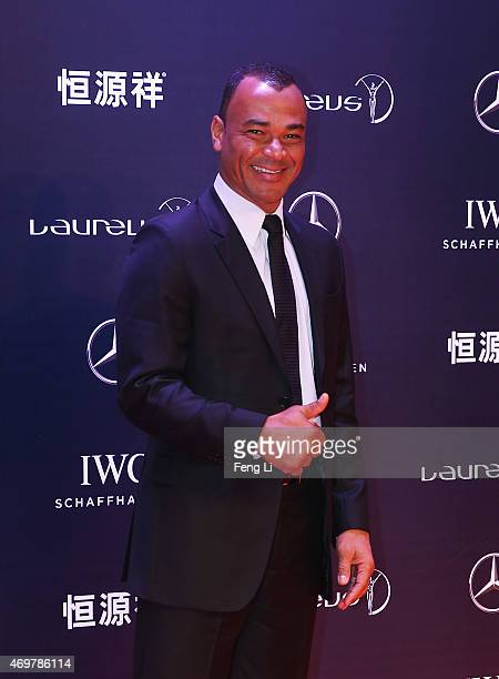 Former Footballer Cafu of Brazil attends the 2015 Laureus World Sports Awards at Shanghai Grand Theatre on April 15 2015 in Shanghai China