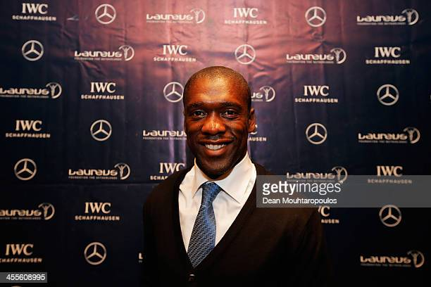 Former footballer, Clarence Seedorf poses during the Laureus European Workshop and Project Visit held at Almere Echnaton school on December 12, 2013...