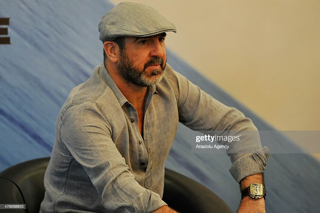 Eric Cantona brand ambassador of Hautlence Watch attends a press conference in Jakarta : News Photo