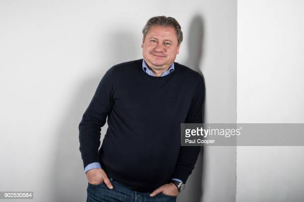 Former footballer for Manchester United Andrei Kanchelskis is photographed for the Telegraph on November 23 2017 in London England