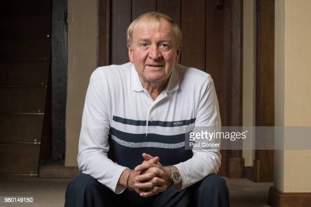 Former footballer Francis Lee is photographed at his home in Cheshire for the Telegraph on May 1 2018 in Cheshire England