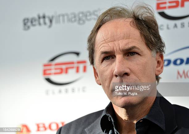 Former footballer Franco Baresi attends a press conference announcing the Golden Foot laureates for 2012 at Grimaldi Forum on October 17 2012 in...