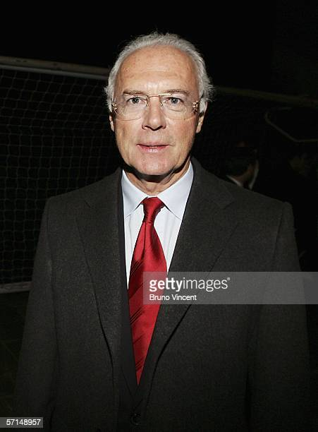 Former footballer Franz Beckenbauer who played in the 1966 World Cup final attends the Heroes '66 Reception as part of a series of events hosted by...