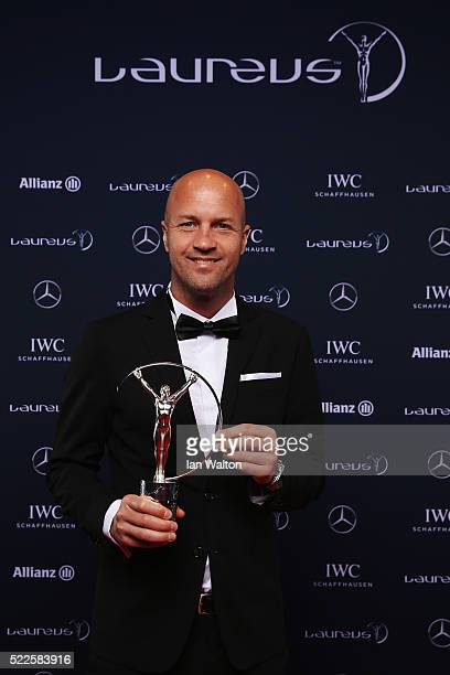 Former footballer Jordi Cruyff attends the 2016 Laureus World Sports Awards at Messe Berlin on April 18 2016 in Berlin Germany