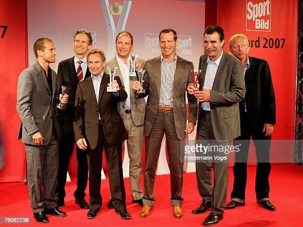Former footballer Mehmet Scholl, Sport Bild publisher chief Frank Mahlberg, ZDF sport chief Dieter Gruschwitz, CEO of United Internet AG Ralf...