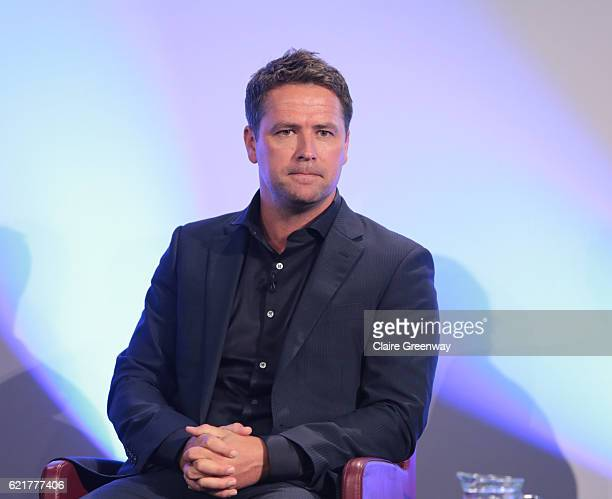 Former footballer Michael Owen participates in an Aspetar sponsored panel discussion concerning 'The Complexity of the Hamstring Injury' on day one...