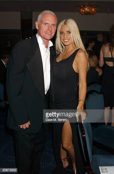 Former footballer Paul Gascoigne and model Jordan attend the reception party for the annual British Book Awards at Grosvenor House Park Lane on April...