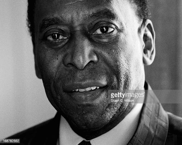 Former footballer Pele attends a photo call to promote 'Pele', a film about his life not yet in production, during the 66th Annual Cannes Film...