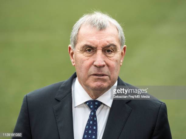 Former footballer Peter Shilton OBE looks on before the FA Cup Fifth Round match between AFC Wimbledon and Millwall at The Cherry Red Records Stadium...