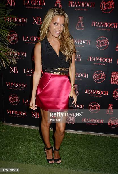 Former footballer Rafael van der Vaart's wife Sylvie Van der Vaart attends the Tinder Party at the VIP ROOM on August 2 2013 in Saint Tropez France