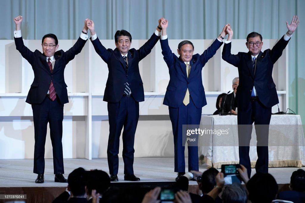 Yoshihide Suga Wins Japan's Ruling Party LDP Leadership Election : Nieuwsfoto's