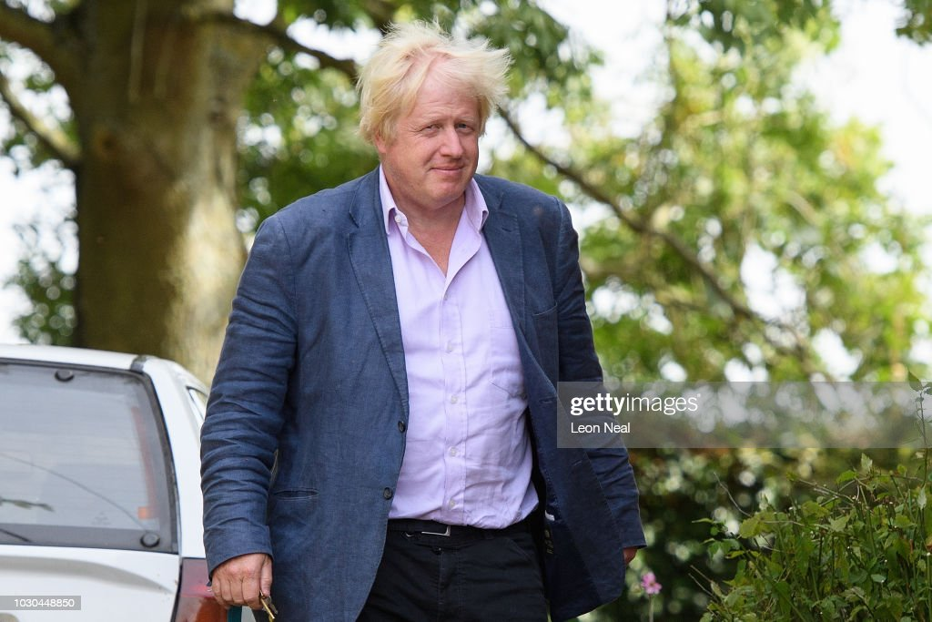 Boris Johnson Leaves His Family Home In Oxfordshire