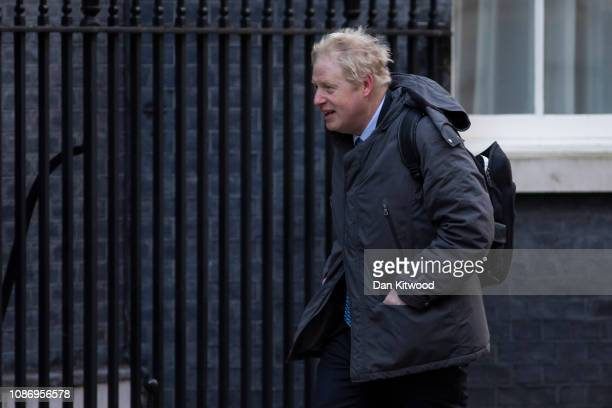 Former Foreign Secretary Boris Johnson arrives on Downing Street on January 23 2019 in London England There are reports that MPs are proposing...