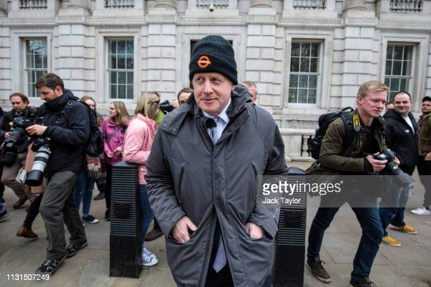 Former Foreign Secretary Boris Johnson leaves the Cabinet Office on March 19 2019 in London England Speaker John Bercow has ruled that British Prime...