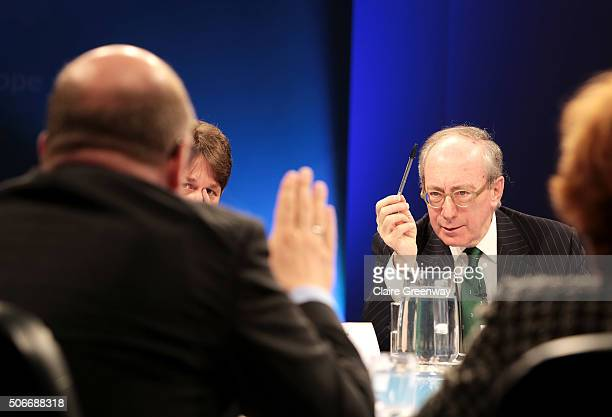Former Foreign Secretary, Sir Malcolm Rifkind, KCMG, QC and former Deputy Finance Minister of Germany, Steffan Kampeter engage in discussion at the...