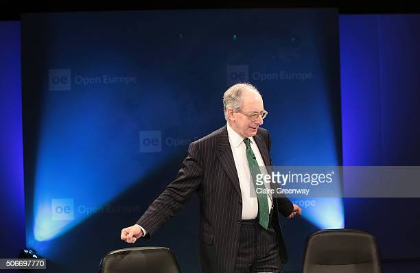 Former Foreign Secretary, Sir Malcolm Rifkind, KCMG, QC attends the 'EU Wargames' event at The Porter Tun on January 25, 2016 in London, England. 'EU...
