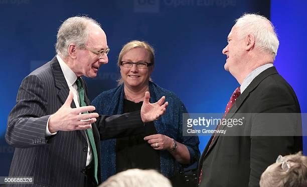 Former Foreign Secretary, Sir Malcolm Rifkind, KCMG, QC , former Taoiseach of Ireland, John Bruton and Swedish Minister for Trade, Ewa Bjorling,...
