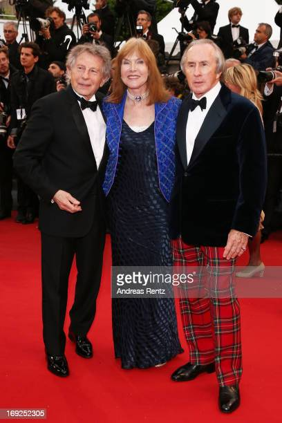 Former Formula 1 driver Sir Jackie Stewart his wife Helen and director Roman Polanski attend 'Weekend Of A Champion' Premiere during the 66th Annual...