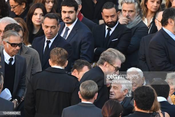 Former Formula One driver Paul Belmondo former French football player Youri Djorkaeff French TV host Cyril Hanouna French singer Eddy Mitchell French...