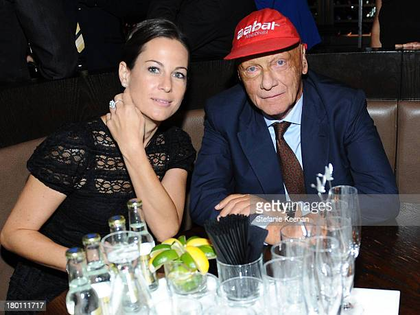 Former Formula One racing driver Niki Lauda and Birgit Lauda at the Grey Goose vodka cohosted party for Rush on September 8 2013 in Toronto Canada