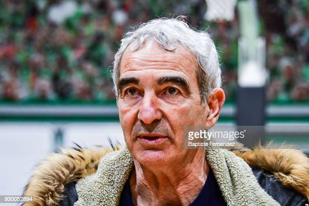 Former France coach Raymond Domenech during a crossed Interview on March 8 2018 in Nanterre France