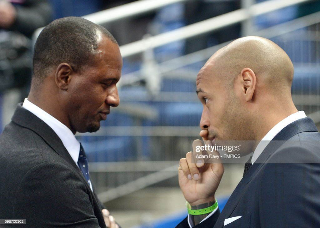 Former France players Patrick Vieira and Thierry Henry
