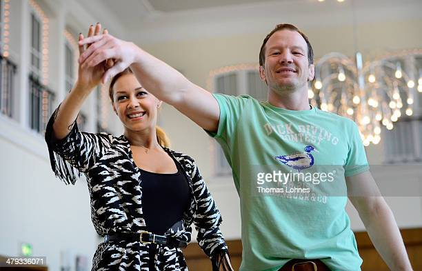 Former freestyle wrestler Alexander Leipold and the professional dancer Oana Andreea Nechiti pose at a photo call for the television competition...