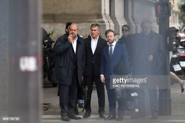 Former French budget minister Jerome Cahuzac who was handed a threeyear jail term in 2016 for tax evasion arrives with his lawyers Eric DupondMoretti...