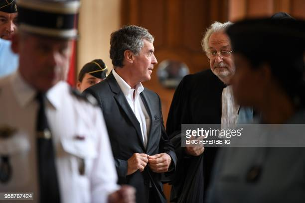 Former French budget minister Jerome Cahuzac who was handed a threeyear jail term in 2016 for tax evasion speaks with one of his lawyers JeanAlain...