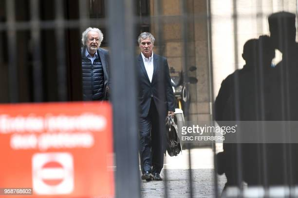 Former French budget minister Jerome Cahuzac who was handed a threeyear jail term in 2016 for tax evasion flanked by one of his lawyers JeanAlain...