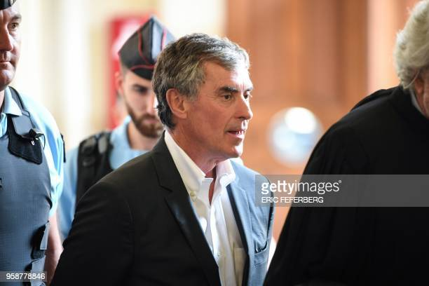 Former French budget minister Jerome Cahuzac who was handed a threeyear jail term in 2016 for tax evasion leaves the Paris' courthouse on May 15...